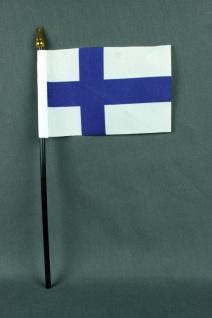 Kleine Tischflagge Finnland 10x15 cm optional mit Tischfähnchenständer