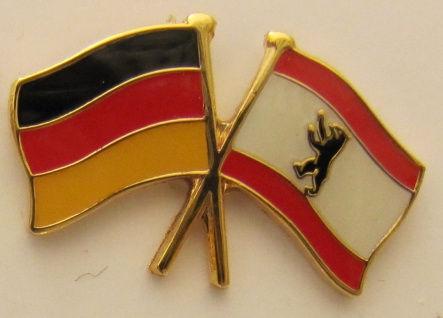 Berlin / Deutschland Freundschafts Pin Anstecker Flagge Fahne Nationalflagge