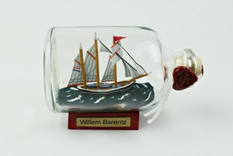 Willem Barentz Niederlande Mini Buddelschiff 50 ml ca. 7, 2 x 4, 5 cm Flaschens...