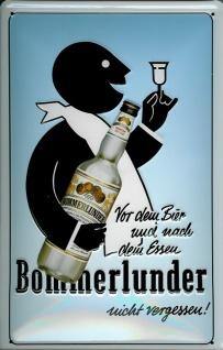 Blechschild Bommerlunder Korn vor dem Bier retro Schild Werbeschild Nostalgie...