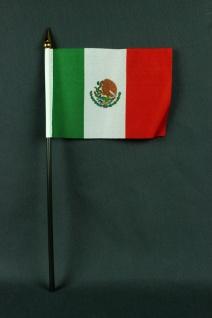 Kleine Tischflagge Mexiko 10x15 cm optional mit Tischfähnchenständer