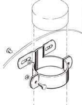 Rohrschelle 60 mm Durchmesser aus Stahl feuerverzinkt