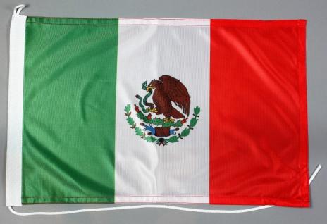 Bootsflagge Mexiko 30x45 cm Motorradflagge Bootsfahne