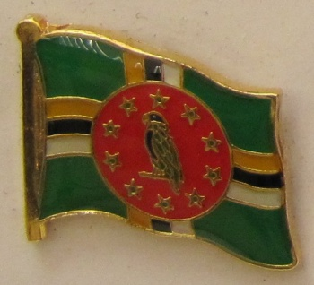 Dominica Pin Anstecker Flagge Fahne Nationalflagge