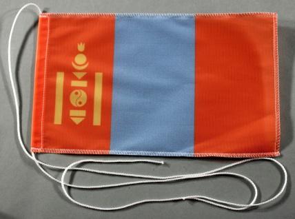 Tischflagge Mongolei 25x15 cm optional mit Holz- oder Chromständer Tischfahne...