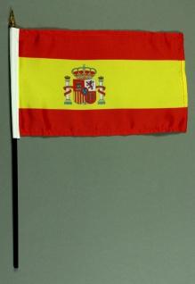 Tischflagge Spanien 25x15 cm BASIC optional mit Tischflaggenständer