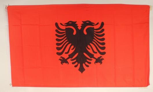 Albanien Flagge Großformat 250 x 150 cm wetterfest