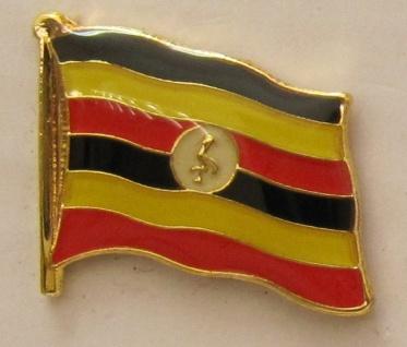 Uganda Pin Anstecker Flagge Fahne Nationalflagge
