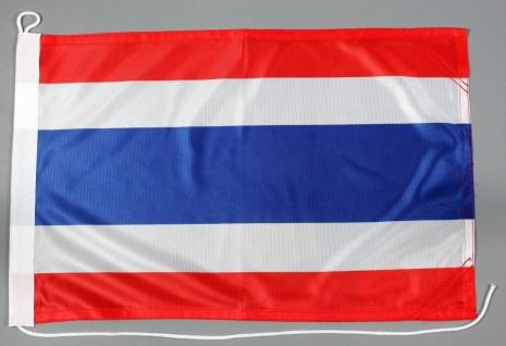 Bootsflagge Thailand 30x45 cm Motorradflagge Bootsfahne