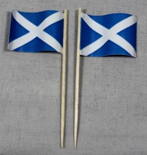 Party-Picker Flagge Schottland Papierfähnchen in Spitzenqualität 50 Stück Beutel