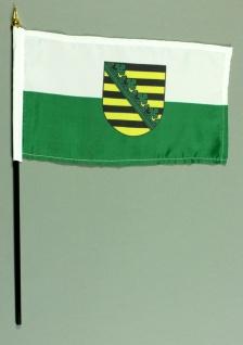 Tischflagge Sachsen 15x25 cm BASIC optional mit Tischflaggenständer