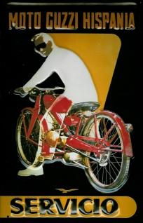 Blechschild Moto Guzzi Hispania Motorrad Oldtimer Schild Nostalgieschild