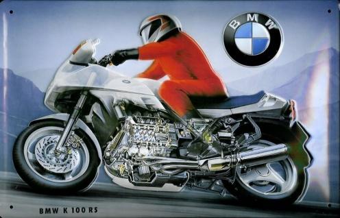 Blechschild BMW K 100 RS Motorrad Schild Nostalgieschild retro Schild Werbesc...
