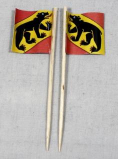 Party-Picker Flagge Bern Kanton Schweiz Papierfähnchen in Spitzenqualität 50 ...