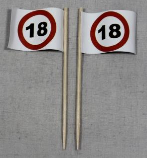 Party-Picker Flagge Tempo 18 Verkehrszeichen Papierfähnchen in Spitzenqualitä...
