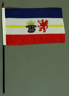 Tischflagge Mecklenburg Vorpommern 15x25 cm BASIC optional mit Tischflaggenst...
