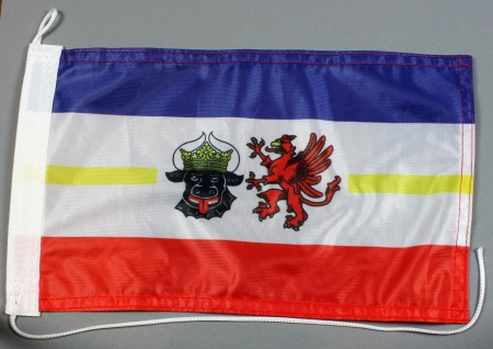 Bootsflagge : Mecklenburg Vorpommern 30x20 cm Motorradflagge