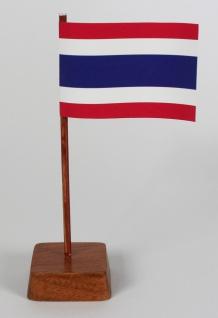 Mini Tischflagge Thailand Höhe 13 cm Tischfähnchen
