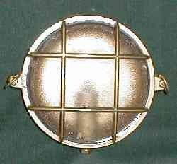 Gitterlampe Messing 215 mm Durchmesser Innenbefestigung 220 Volt