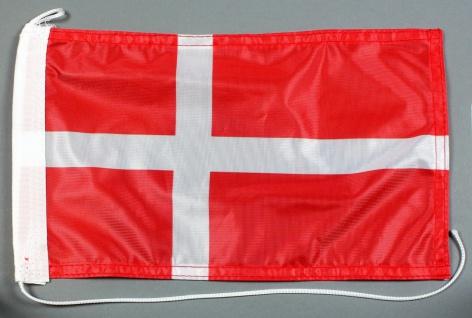Bootsflagge : Dänemark 30x20 cm Motorradflagge