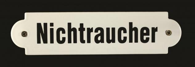 Eisenbahn Schild Nichtraucher Emaille Türschild