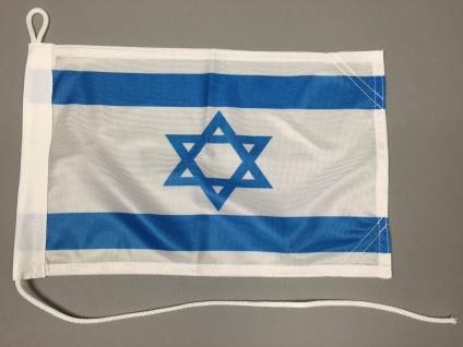 Bootsflagge : Israel 30x20 cm Motorradflagge