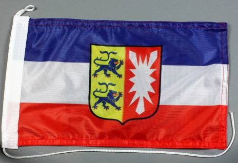 Bootsflagge : Schleswig Holstein 30x20 cm Motorradflagge