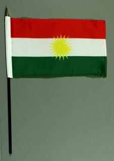 Tischflagge Kurdistan 15x25 cm BASIC optional mit Tischflaggenständer