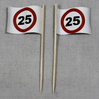 Party-Picker Flagge Tempo 25 Verkehrszeichen Papierfähnchen in Spitzenqualitä...