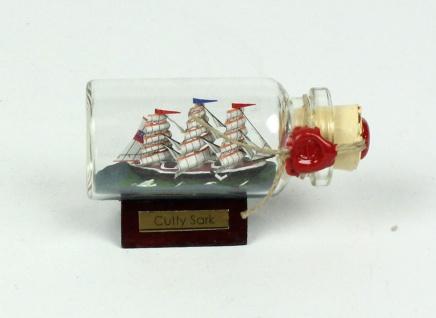 Cutty Sark Mini Buddelschiff 10 ml 5x2 cm Flaschenschiff