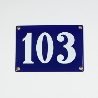 103 blau Clarendon ohne Rahmen 18x12 cm sofort lieferbar 3-stellig Schild Ema...