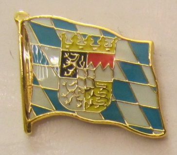 Pin Anstecker Flagge Fahne Bayern mit Löwen Wappen Raute Flaggenpin Button Ba...
