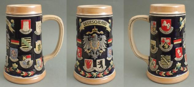 Bierkrug Deutschland Adler Keramik Bierseidel 0, 3 Liter Maßkrug