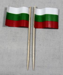 Party-Picker Flagge Bulgarien Papierfähnchen in Spitzenqualität 50 Stück Beutel
