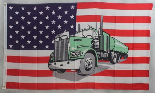 Flagge Fahne : USA / Truck SONDERPOSTEN