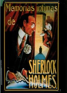 Blechschild Sherlock Holmes Memorias Intimas Filmplakat Werbeschild Schild No... - Vorschau