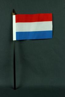 Kleine Tischflagge Luxemburg 10x15 cm optional mit Tischfähnchenständer