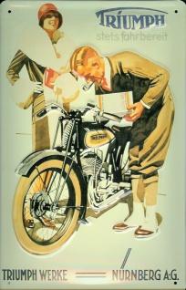 Blechschild Triumph Werke Nürnberg Motorrad Schild Nostalgieschild Moped