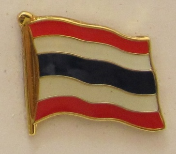 Thailand Pin Anstecker Flagge Fahne Nationalflagge