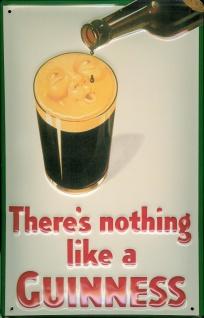 Blechschild Guinness Bierschaum Gesicht Bierglas Schild retro Werbeschild - Vorschau