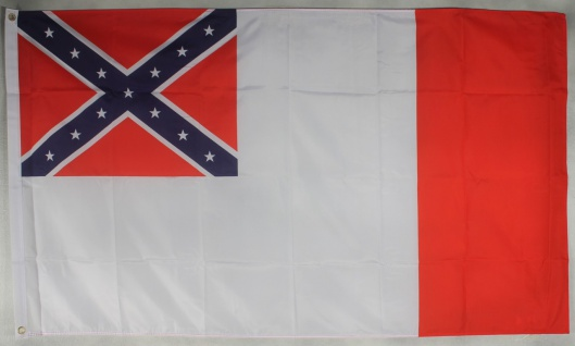 Flagge Fahne : 3rd Confederate USA Südstaaten Bürgerkrieg