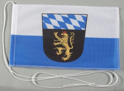 Tischflagge Oberbayern Ober Bayern 25x15 cm optional mit Holz- oder Chromstän...