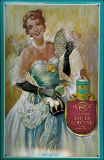 Blechschild 4711 Ball Dame Eau de Cologne Parfum Kosmetik kölnisch Wasser Sch...