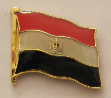 Aegypten Pin Anstecker Flagge Fahne Nationalflagge