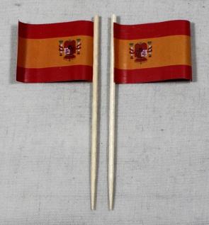 Party-Picker Flagge Spanien Papierfähnchen in Spitzenqualität 50 Stück Beutel