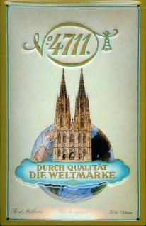 Blechschild 4711 Durch Qualität Die Weltmarke Kosmetik kölnisch Wasser Schild...