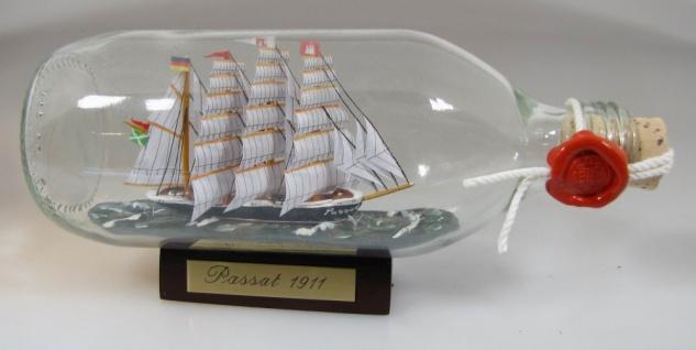 Passat runde Flasche 0, 3 Liter Buddelschiff Flaschenschiff