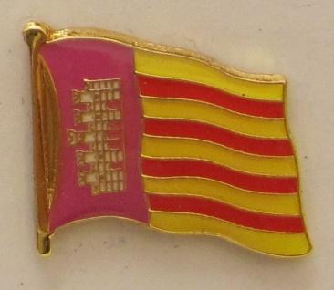 Pin Anstecker Flagge Fahne Mallorca Spanien Inselflagge