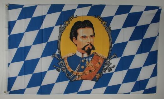 Flagge Fahne Bayern König Ludwig bayerische Bayernflagge