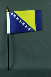 Kleine Tischflagge Bosnien Herzegowina 10x15 cm optional mit Tischfähnchenstä...